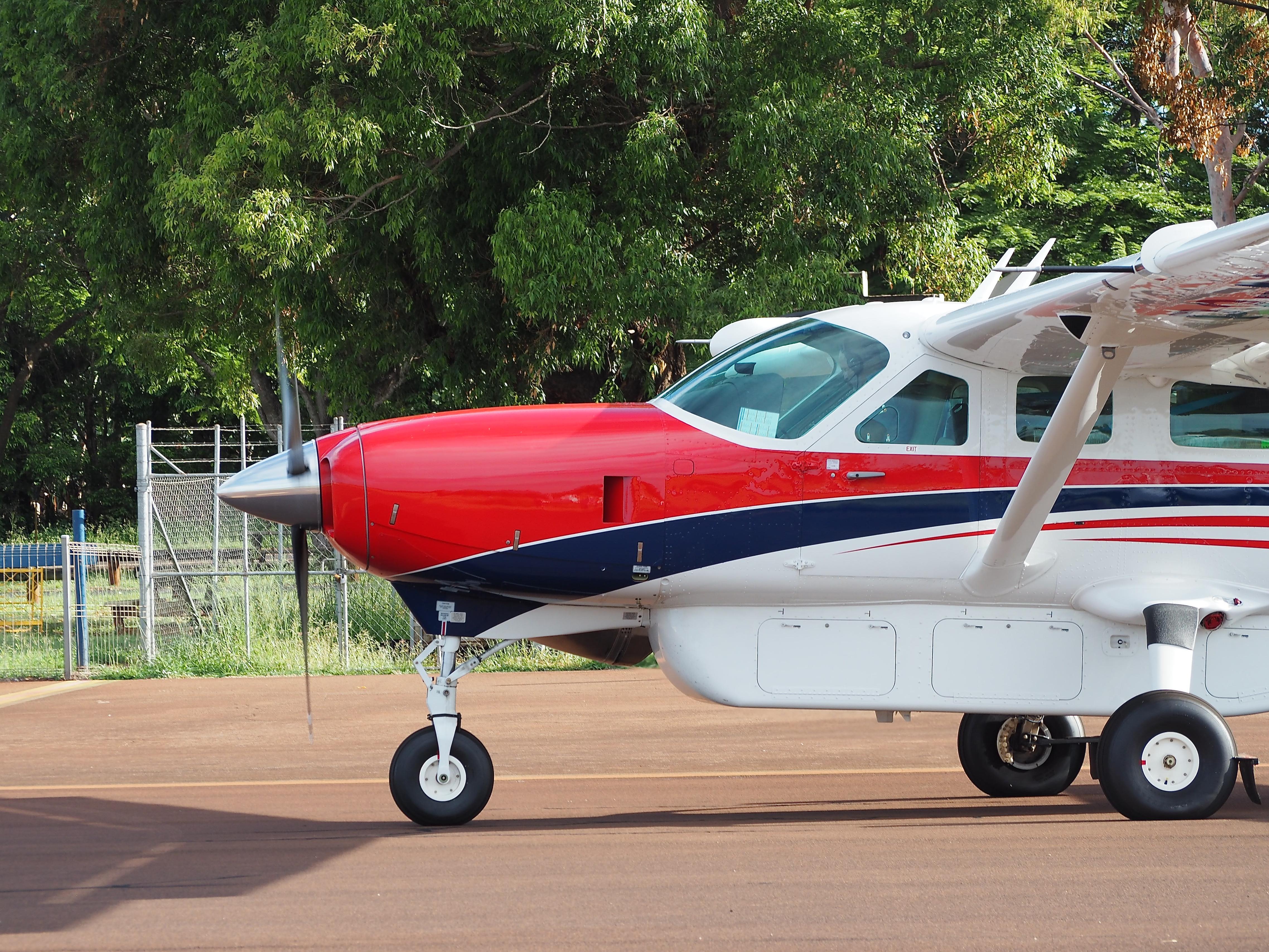 A brand new Cessna Caravan arrives for service in Mareeba