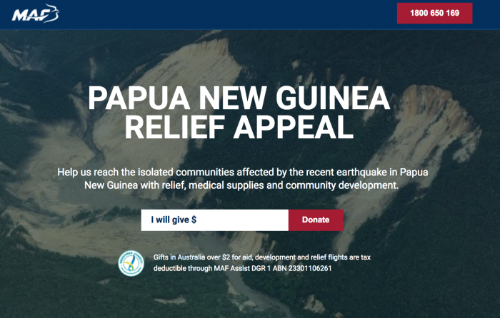 Earthquake Response - Papua New Guinea (as of 15th March